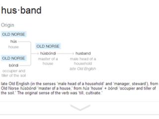 The Etymology of Husband According to Google