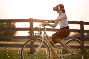 women-with-goggles-riding-a-bike